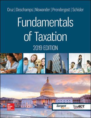 Solution Manual for Fundamentals of Taxation 2019 Edition, 12th by Cruz