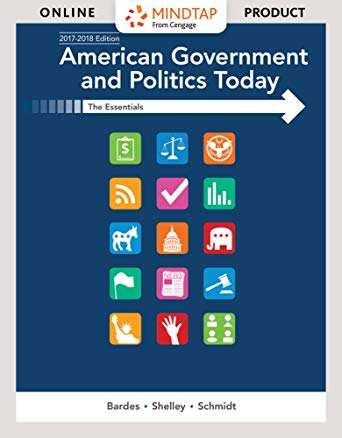 Test Bank for American Government and Politics Today Essentials 2017-2018 Edition 19th by Bardes