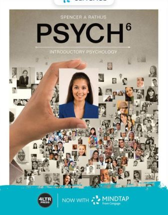 Test Bank for PSYCH 6th Edition Rathus ISBN-10: 0357041054, ISBN-13: 9780357041055
