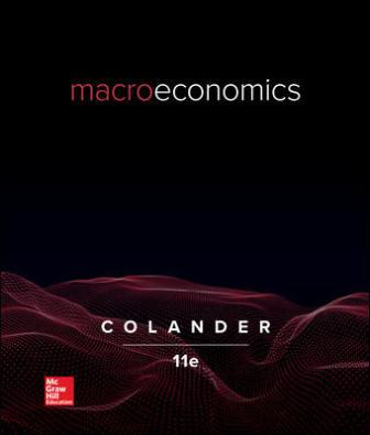 Test Bank for Macroeconomics, 11th Edition, David Colander, ISBN10: 126050705X, ISBN13: 9781260507058