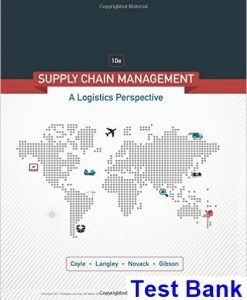 Supply Chain Management A Logistics Perspective 10th Edition Coyle Test Bank