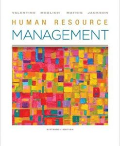 Solution Manual for Human Resource Management 16th by Valentine