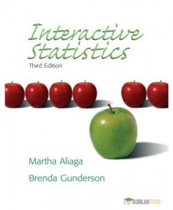 Test Bank for Interactive Statistics, 3/E 3rd Edition : 0131497561