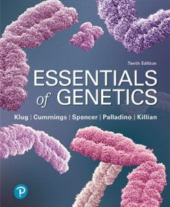 Test Bank for Essentials of Genetics, 10th Edition, William S. Klug, ISBN-10: 0135173604, ISBN-13: 9780135173602