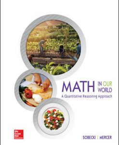 Test Bank for Math in Our World: A Quantitative Reasoning Approach, 1st Edition, David Sobecki, Brian Mercer, ISBN10: 1259827577, ISBN13: 9781259827570