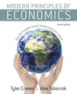 Test Bank for Modern Principles of Economics, 4th Edition, Tyler Cowen, Alex Tabarrok, ISBN:9781319108700, ISBN:9781319195427, ISBN:9781319108731, ISBN:9781319098728
