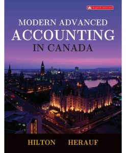 Test Bank for Modern Advanced Accounting in Canada 9th by Hilton
