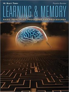 Test Bank for Learning and Memory, 4th Edition : Terry