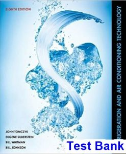 Refrigeration and Air Conditioning Technology 8th Edition Tomczyk Test Bank