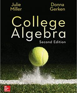 Solution Manual for College Algebra 2nd by Miller