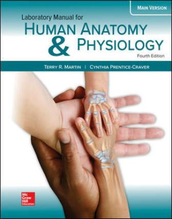 Solution Manual for Human Anatomy & Physiology Main Version, 4th Edition, Terry Martin, Cynthia Prentice-Crave, ISBN10: 1260159086, ISBN13: 9781260159080