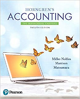 Test Bank for Horngren's Accounting: The Managerial Chapters (12th Edition) 12th Edition