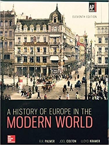 Test Bank for Palmer, A History of Europe in the Modern World, 11th Edition