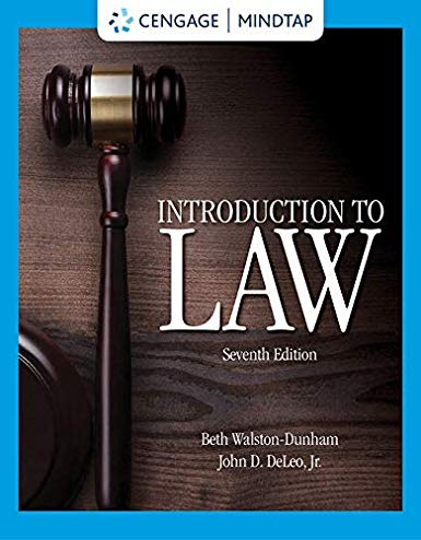 Test Bank for Walston-Dunham Introduction to Law 7th