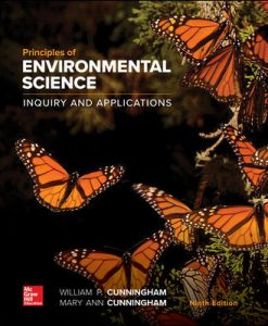 Test Bank for Principles of Environmental Science 9th Edition Cunningham ISBN10: 1260219712, ISBN13: 9781260219715