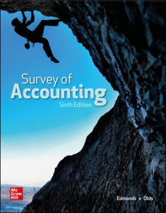 Test Bank for Survey of Accounting, 6th Edition, Thomas Edmonds, Christopher Edmonds, Philip Olds, ISBN10: 1260247775, ISBN13: 9781260247770