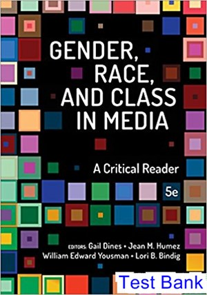 Gender Race and Class in Media A Critical Reader 5th Edition Dines Test Bank