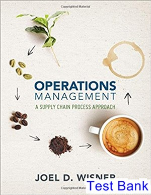Operations Management A Supply Chain Process Approach 1st Edition Wisner Test Bank