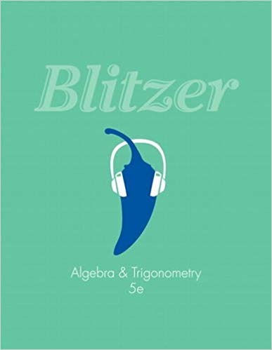 Test Bank for Algebra and Trigonometry 5th by Blitzer
