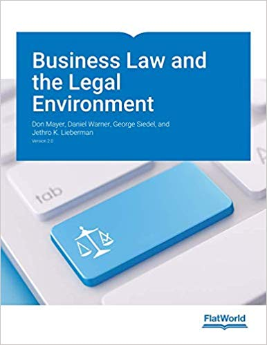 Test Bank for Business Law and the Legal Environment Version 2.0 by Mayer