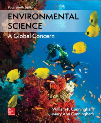 Test Bank for Environmental Science, 14th Edition, William Cunningham, Mary Cunningham, ISBN10: 1260153126, ISBN13: 9781260153125