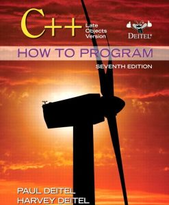 Solution Manual for C++ How to Program: Late Objects Version, 7/E 7th Edition Paul Deitel, Harvey Deitel