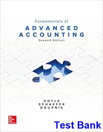Fundamentals of Advanced Accounting 8th Edition Hoyle Test Bank