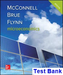 Microeconomics 21st Edition McConnell Test Bank